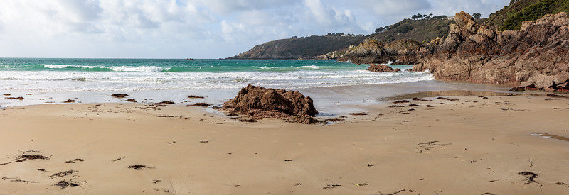 Petit Port beach on Guernsey's south coast at low tide