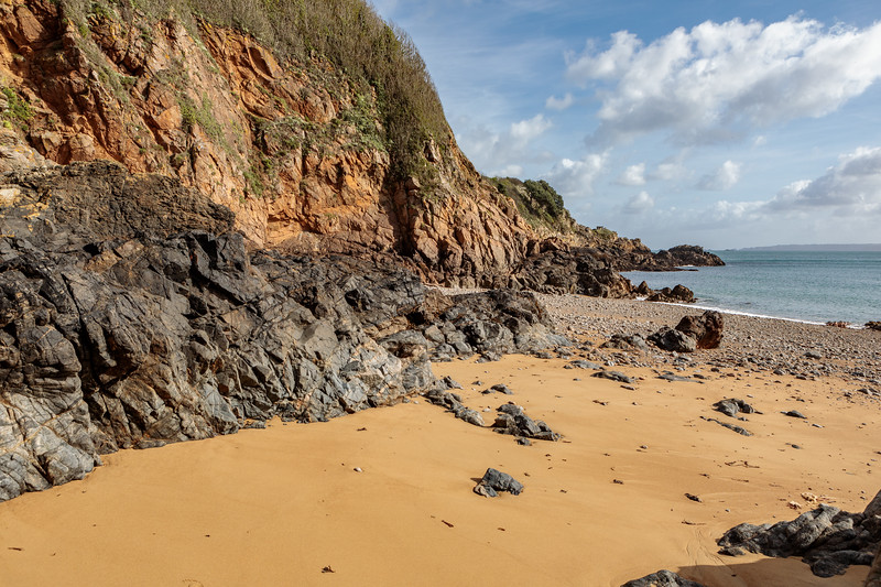 Soldier's Bay on Guernsey's east coast