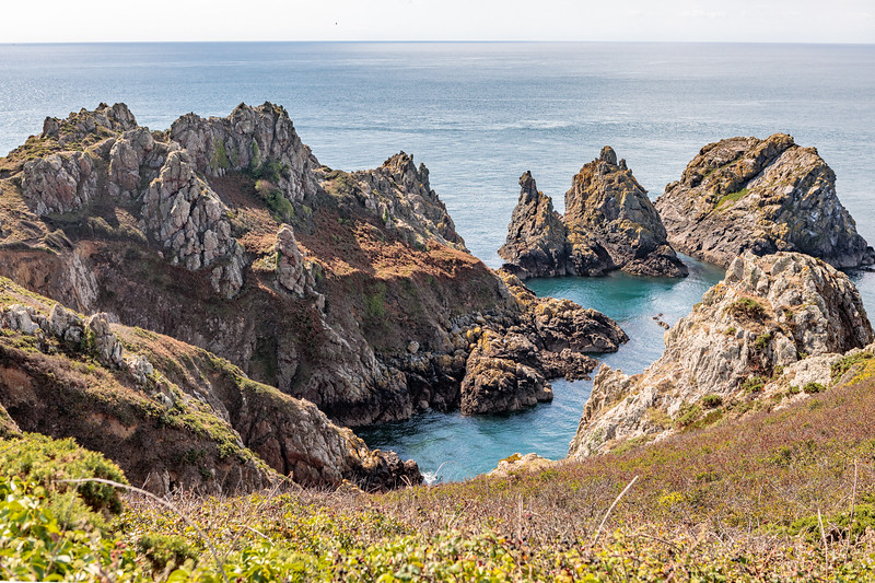 Pea Stacks on Guernsey's south coast