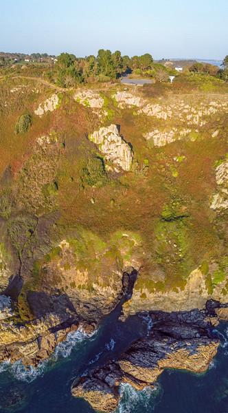 The cliff below Icart car park in St Martin, Guernsey