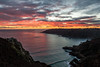 A view at sunset over looking Petit Port and Moulin Huet on Guernsey's south coast
