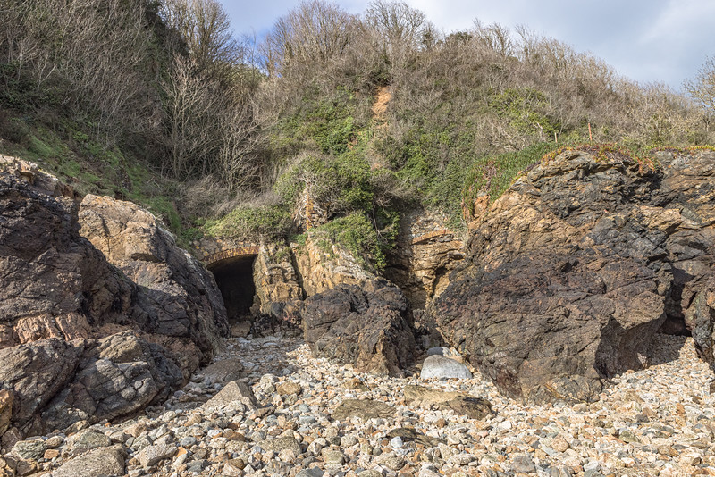 Guernsey east coast ravine south of Soldiers' Bay