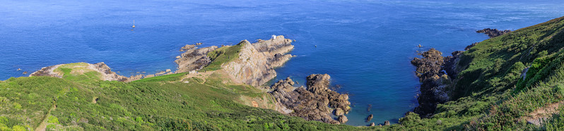 Panoramic view from above of St Martin's point, Guernsey