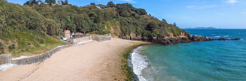 Looking north from the southern side of Fermain Bay on Guernsey's east coast 18th September 2020
