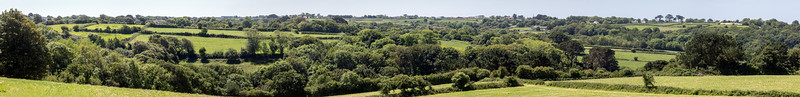 Panoramic view over Talbot Valley, Guernsey