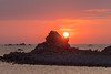 Sunset at Portinfer on Guernsey's northwest coast