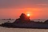 Sunset at Portinfer on Guernsey's northwest coast
