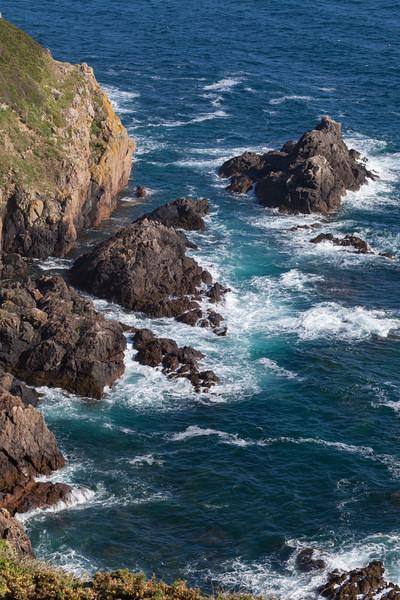 Pointe de la Moye rocks Le Gouffre Forest parish Guernsey v 290511 ©RLLord 7513 smg