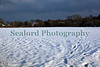 Snow covered St Martin parish field, Guernsey