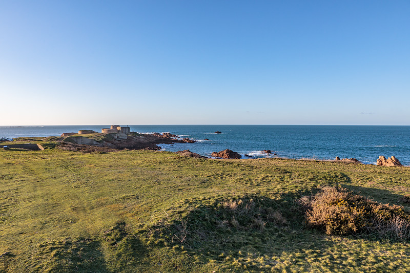 Fort Hommet headland on Guernsey's west coast