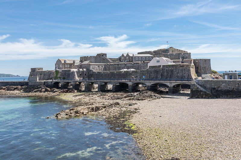Castle Cornet at the entrance to St Peter Port harbour, Guernsey
