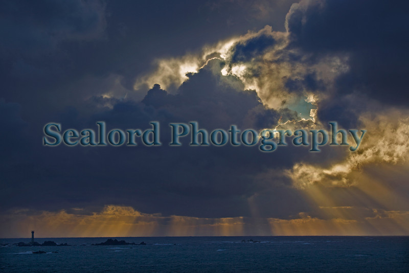 late afternoon sky over Hanois Lighthouse Guernsey 011112 ©RLLord 1563 smg