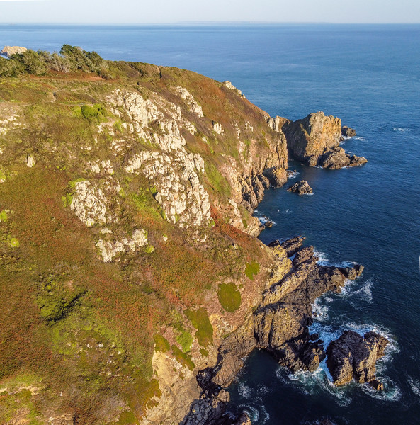 Guernsey south coast cliffs by Icart on 14th September 2020