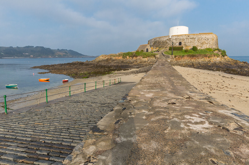 Fort Grey in Rocquaine Bay on Guernsey's west coast