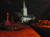 St. Martin's church at night photographed without a tripod. I balanced the Canon S80 digital camera on the granite post at the entrance to the church.  I used a 15 second time exposure and a two second shutter delay.  Lights with different colour temperatures illuminate the church and the graveyard. Photographed on 8 November 2006.<br /> File No. 081106 4373<br /> ©RLLord<br /> fishinfo@guernsey.net