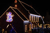 Queux Manor in Guernsey, Channel Islands, Great Britain, lit up with Christmas lights on Christmas Day 2008<br /> ©RLLord <br /> File No. 251208 79