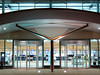I like the symmetry in this image of the two entrances for Guernsey airport departures. This image was taken with a Canon S80 digital camera on a small plastic tripod that I can carry in a bag on my shoulder while I bicycle.<br /> Photographed on 16 November 2006<br /> File No. 161106 4532<br /> ©RLLord<br /> fishinfo@guernsey.net