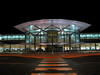 The Guernsey airport terminal building photographed on the night of 16 November 20006.  I photographed this with a Canon S80 digital camera and a small tripod, which I carry with me on my bicycle.  This is a one second exposure at f4.5.<br /> File No. 161106 4541<br /> ©RLLord<br /> fishinfo@guernsey.net