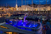 Night time scene over Victoria Marina, St Peter Port, Guernsey