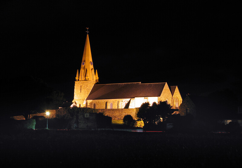 Vale parish church photographed on the 1 November 2006 with a pocket digital Canon S 80 camera on a small tripod using a 15 second time exposure.<br /> File No. 011106 4189<br /> ©RLLord<br /> fishinfo@guernsey.net<br /> sealordphotography