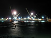 St Peter Port harbour cranes night 220308 3851 smg