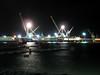 St Peter Port harbour cranes night 220308 3851 smg