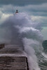 Castle Breakwater lighthouse with wave breaking v 030214 ©RLLord 9627 smg