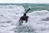 Adam Harvey on Waveski going through surf 130216 ©RLLord 6191 smg