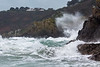Petit Port waves splashing into rocky South Coast Guernsey 130216 ©RLLord 6253 smg