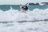 Adam Harvey KS Waveski through surf Petit Port cr130216 ©RLLord 6676 smg