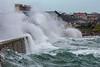 Belle Greve Bay rough sea big waves crash onshore 100416 ©RLLord 9347 smg