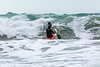 Adam Harvey paddling through surf on Waveski cr 130216 ©RLLord 6217 smg