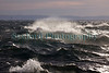 Choppy water in Belle Greve Bay, Guernsey