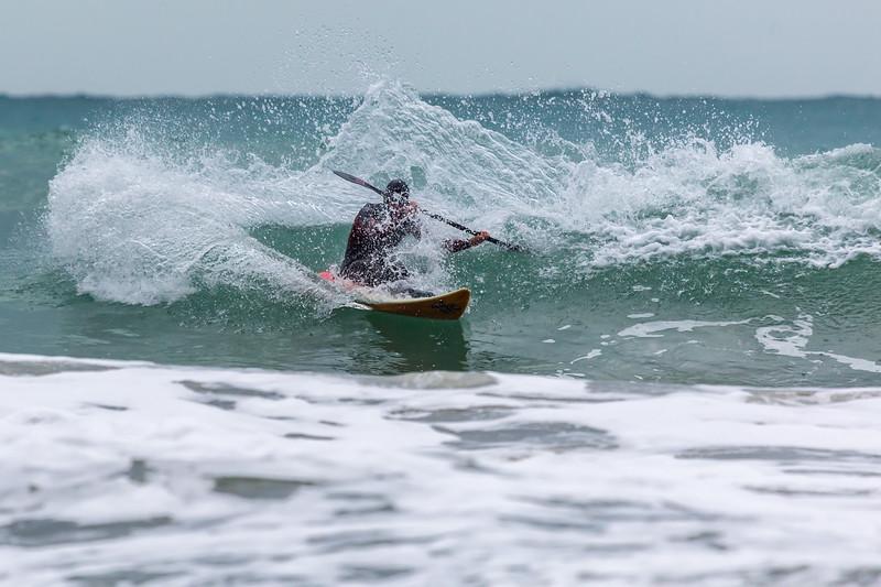 Adam Harvey KS Waveski turning spray Petit Port cr 130216 ©RLLord 6768 smg