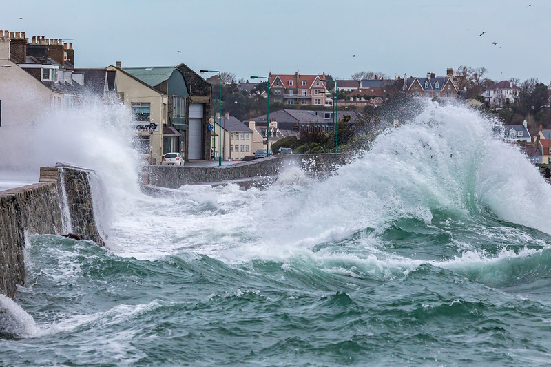 Belle Greve Bay large waves rough sea 100416 ©RLLord 9462 smg