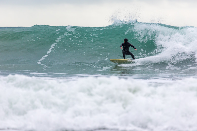 Dave Du Port surfing along tall wave Petit Port 130216 ©RLLord 6687 smg