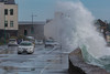 Traffic lights Belle Greve Bay large wave rough sea 100416 ©RLLord 9159 smg