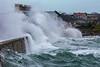 Belle Greve Bay rough sea waves crash on shore 100416 ©RLLord 9347 smg