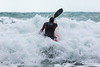 Adam Harvey on Waveski going through surf 130216 ©RLLord 6194 smg