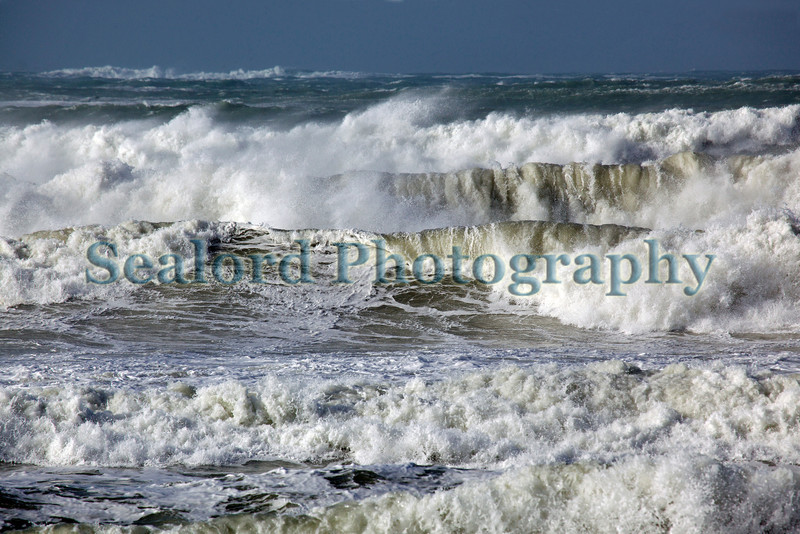 Storm waves approaching Vazon Bay, Guernsey