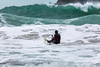Adam Harvey ventures out from Petit Port, Guernsey on a KS Waveski