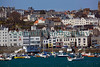 The St Peter Port, Guernsey waterfront on 18 April 2013