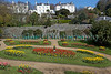 Flower beds filled with tulips in Candie Gardens, St Peter Port