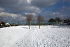 A field of snow along Fort Road, St Peter Port, Guernsey