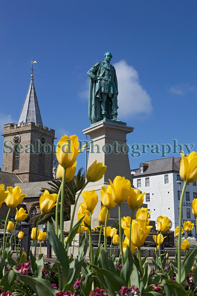 Statue of Prince Albert in St Peter Port, Guernsey