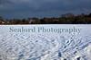 Snow covered St Martin parish field, Guernsey