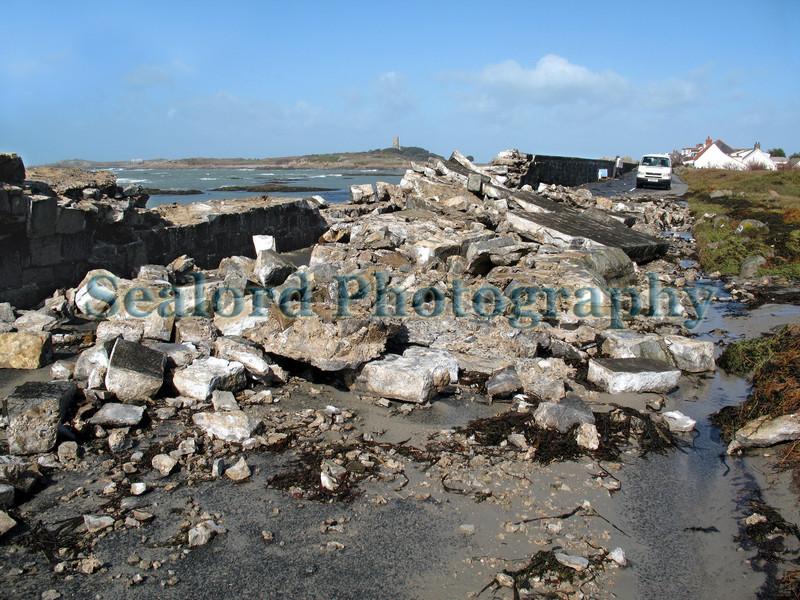 Rocquaine beach wall damage 120308 3648 smg