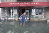 St Peter Port waterfront flooding Mora Brasserie 45 cm 030314 ©RLLord 8543 smg