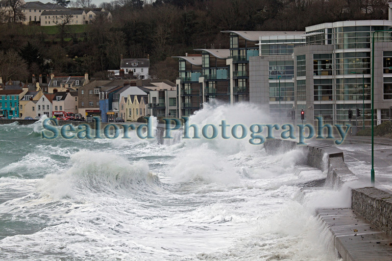 Storm waves on Guernsey's east coast