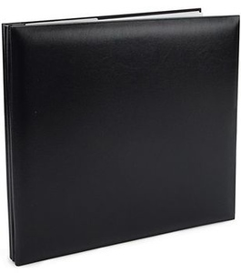 8x8-Black-FauxLeather-Book